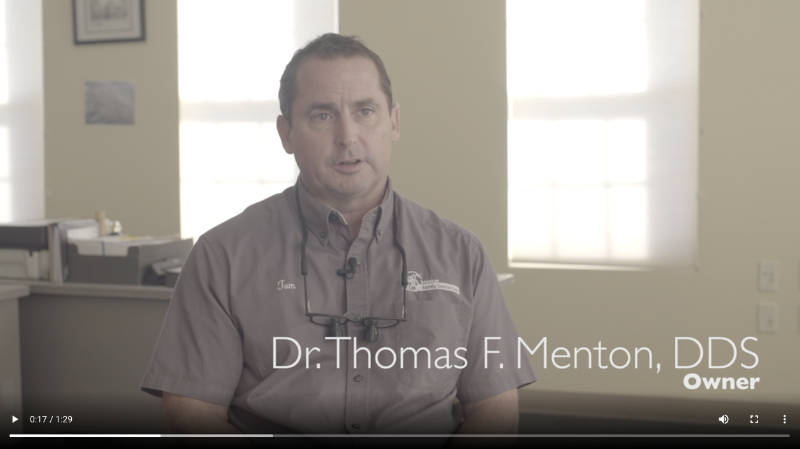 photo of Dr. Thomas F. Menton, DDS at his dental clinic in Ellicott City, MD